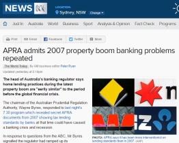 APRA - admits 2007 boom