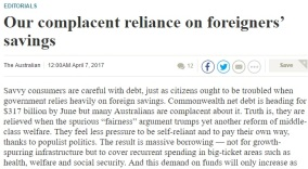 170407 - Foreign debt editorial