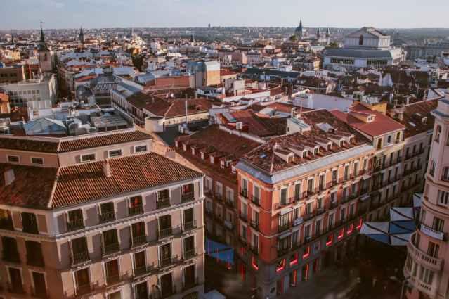 high angle photography of city